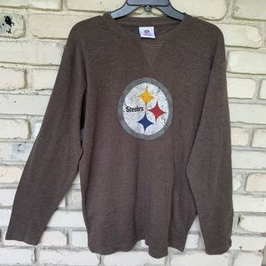 NFL team apparel Steelers long sleeve ribbed shirt